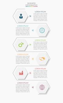 Conception d'icônes infographie chronologie de visualisation de données commerciales
