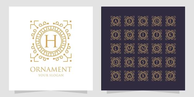 Conception d'icônes d'inspiration ornement pour l'alphabet.