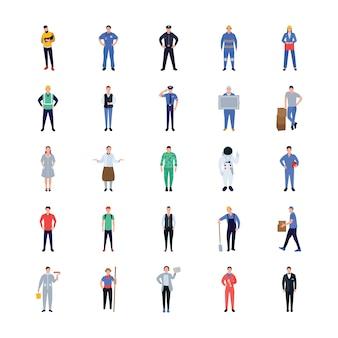 Conception d'icônes plat de professions