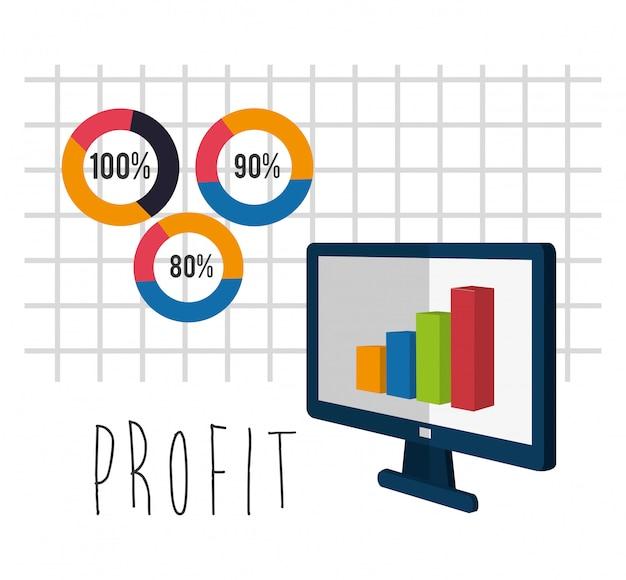 Conception d'icônes de profit