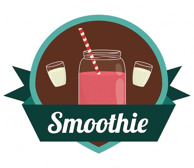 Conception d'icônes de smoothies