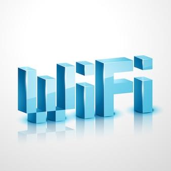 Conception d'icônes vectorielles 3d wifi