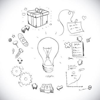 Conception d'idée sur l'illustration vectorielle fond blanc