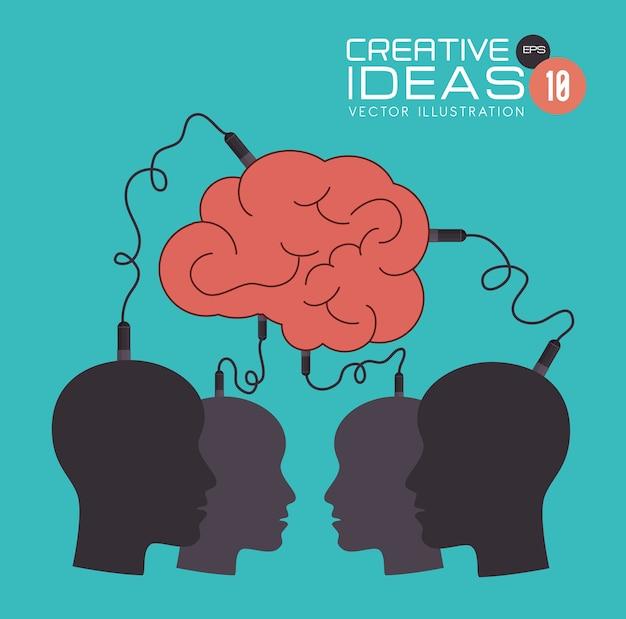 Conception de l'idée, illustration vectorielle.