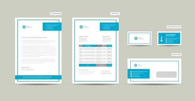 Conception d'identité de marque d'entreprise ou conception de papeterie ou papier à en-tête