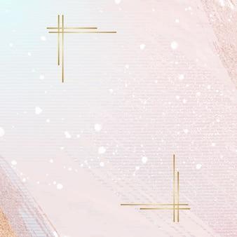 Conception d'illustration abstraite cadre doré