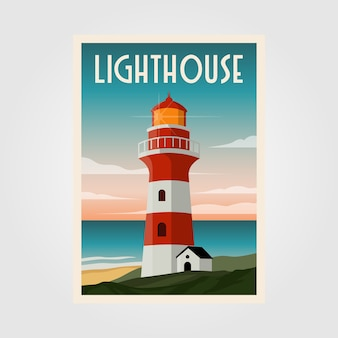 Conception d'illustration d'affiche de phare