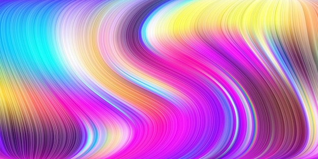 Conception d'illustration artistique avec forme ondulée rayée