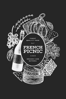 Conception d'illustration de cuisine française