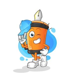 Conception d'illustration de dessin animé drôle de personnage de jeune garçon