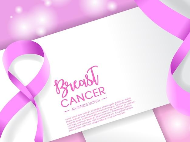 Conception de l'illustration du mois du cancer du sein