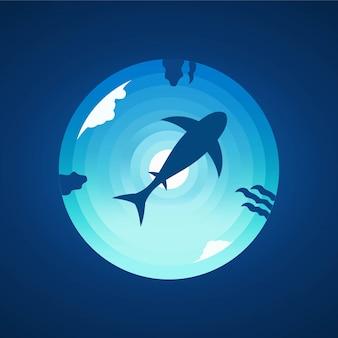 Conception d'illustration de l'eau de mer