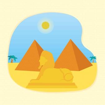 Conception d'illustration égyptienne