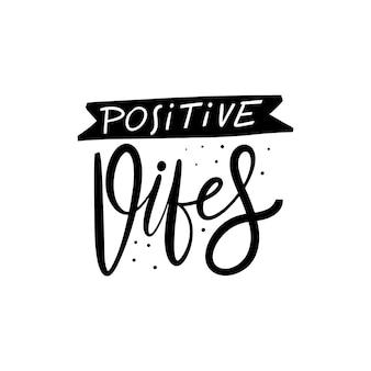 Conception d'illustration d'expression positive vibes
