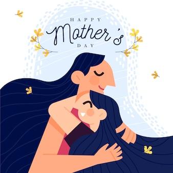Conception d'illustration de la fête des mères