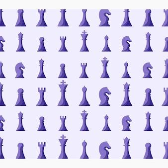Conception d'illustration de fond de pièces d'échecs