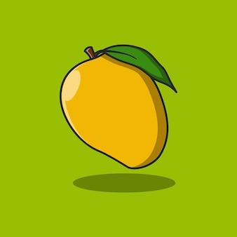 Conception d'illustration de fruits de mangue fraîche