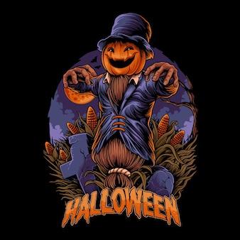Conception d'illustration halloween jack o lantern