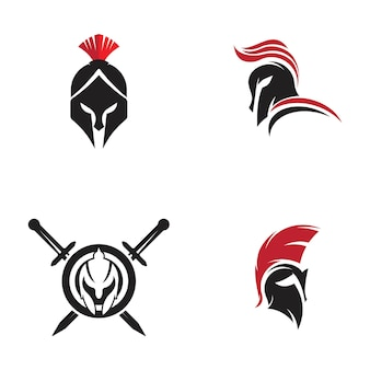 Conception d'illustration d'icône de vecteur de casque spartiate