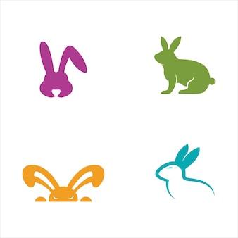 Conception d'illustration d'icône de vecteur de modèle de lapin