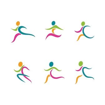 Conception d'illustration d'icône de vecteur de silhouette de sport