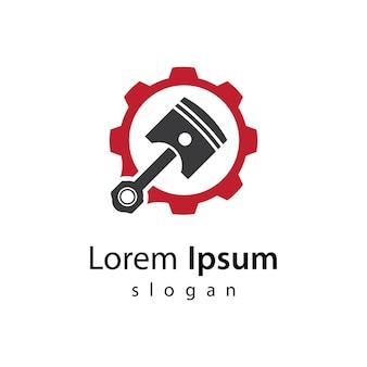 Conception d'illustration d'images de logo de piston