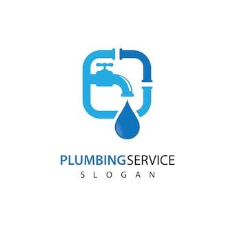 Conception d'illustration d'images de logo de plomberie
