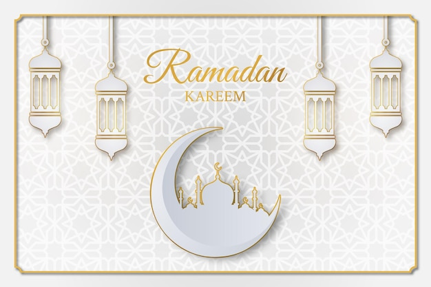 Conception d'illustration islamique ramadan kareem