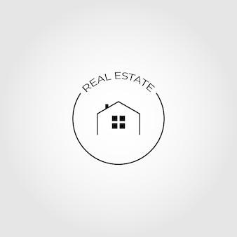 Conception d'illustration de logo d'icône de vecteur immobilier