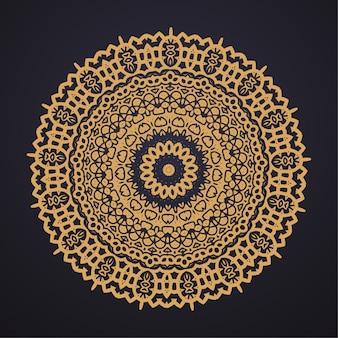 Conception d'illustration de mandala de luxe