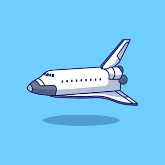 Conception d'illustration de navette volante concept de conception d'objet isolé premium