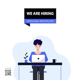 Conception et illustration de l'offre d'emploi développeur web professionnel