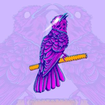 Conception d'illustration d'oiseau de dessin à la main