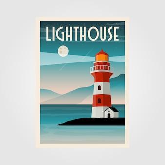 Conception d'illustration de phare