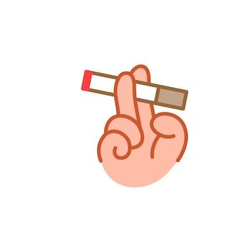 Conception d'illustration plate de fumer isolée