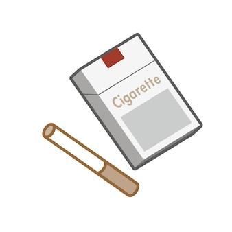 Conception d'illustration plate de tabac isolée