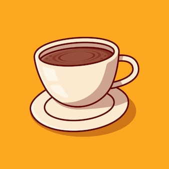 Conception d'illustration de tasse de café de débordement