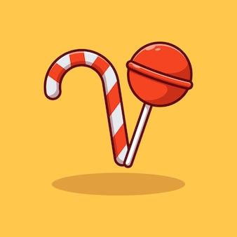 Conception d'illustration vectorielle de bonbons sucrés et délicieux
