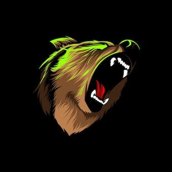 Conception d'illustration vectorielle en colère grizzly