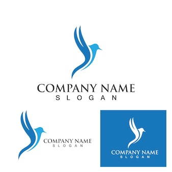 Conception d'illustration vectorielle falcon logo template