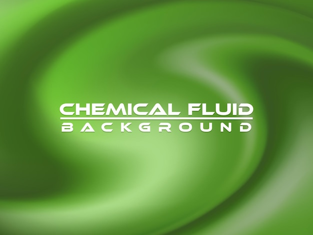 Conception d'illustration vectorielle de fond chimique fluide