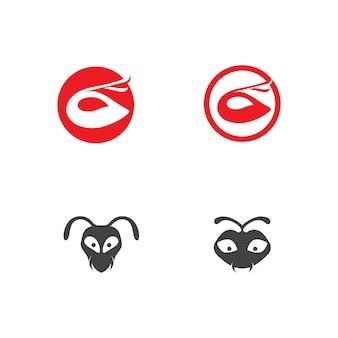 Conception d'illustration vectorielle fourmi logo modèle