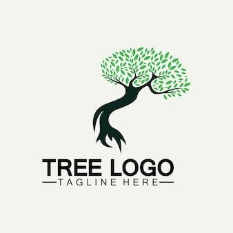 Conception d'illustration vectorielle d'icône de logo d'arbre. silhouette vectorielle d'un arbre modèles de logo d'arbre et de racines arbre de vie illustration de conception