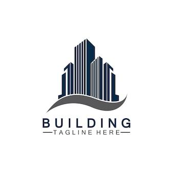 Conception d'illustration vectorielle de logo de bâtiment, modèle de logo immobilier, icône de symbole de logo
