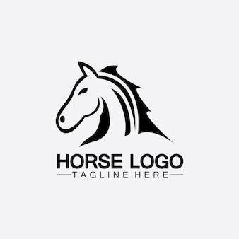 Conception d'illustration vectorielle de modèle de logo de cheval