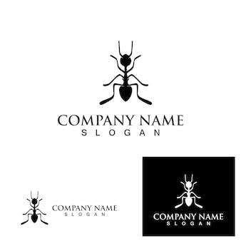 Conception d'illustration vectorielle de modèle de logo de fourmi