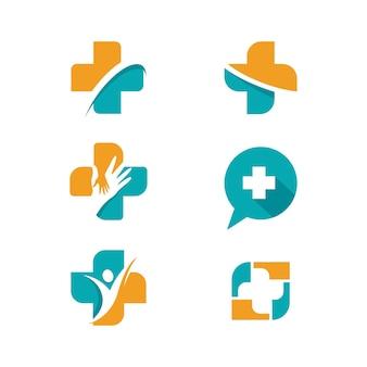 Conception d'illustration vectorielle de modèle de logo médical de santé