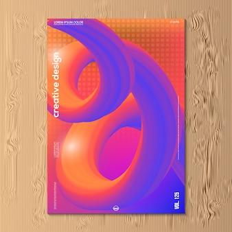 Conception illustration vectorielle moderne de dégradé abstrait