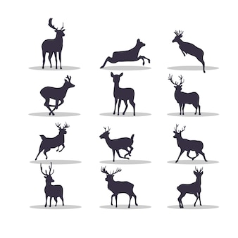Conception d'illustration vectorielle silhouette cerf