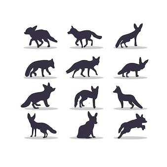Conception d'illustration vectorielle silhouette renard